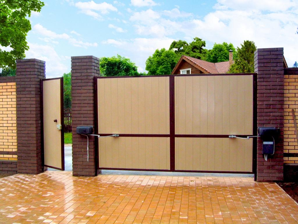 как сделать открывающиеся ворота